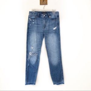 Abercrombie & Fitch straight leg girlfriend jeans